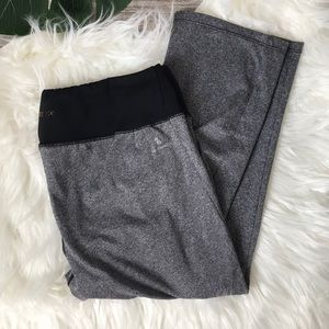 New Balance Grey & Black Athletic Capris